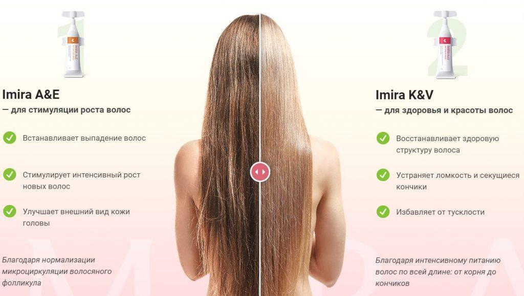 Комплекс Imira для восстановления здоровья и красоты волос в Новокузнецке